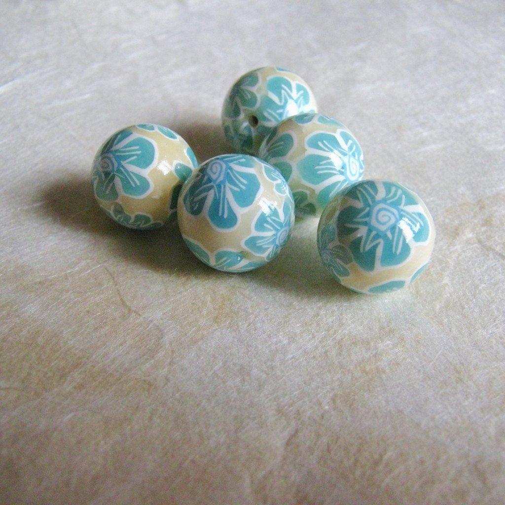 5 Perle in pasta polimerica