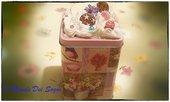 Portabiscotti decorato con dolci fimo+OMAGGIO!IDEA REGALO