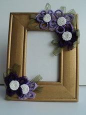 Portafoto decorato a mano con fiori