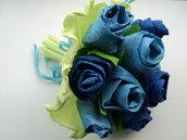 Bouquet di rose in carta crespa