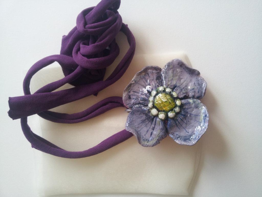 ciondolo fiore lilla