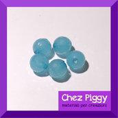 20 x perle sfaccettate - CELESTE