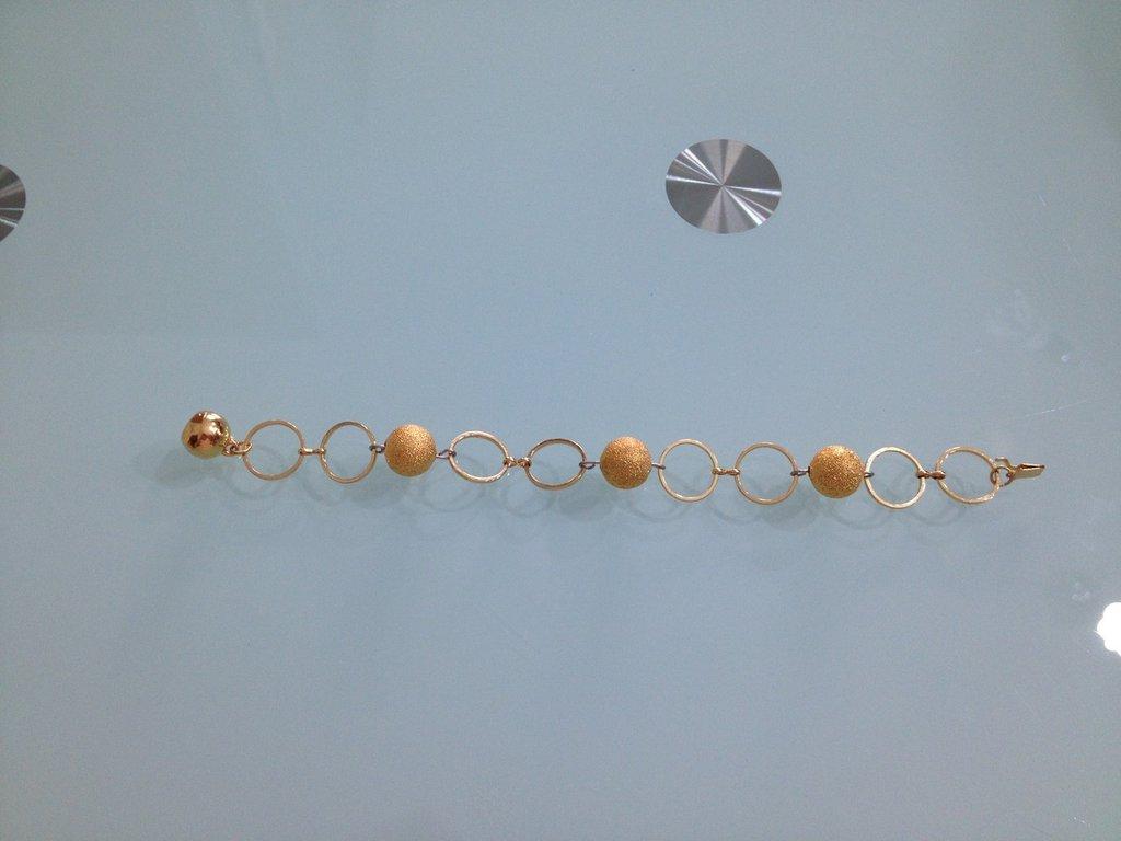 Bracciale cerchi con perle diamantate
