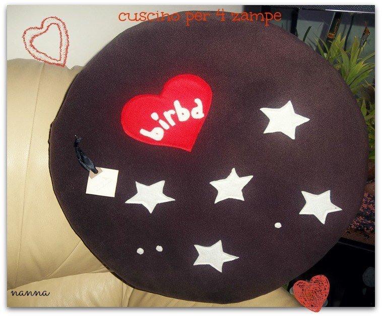 Cuscino personalizzato con nome per il vostro amico a 4 zampe