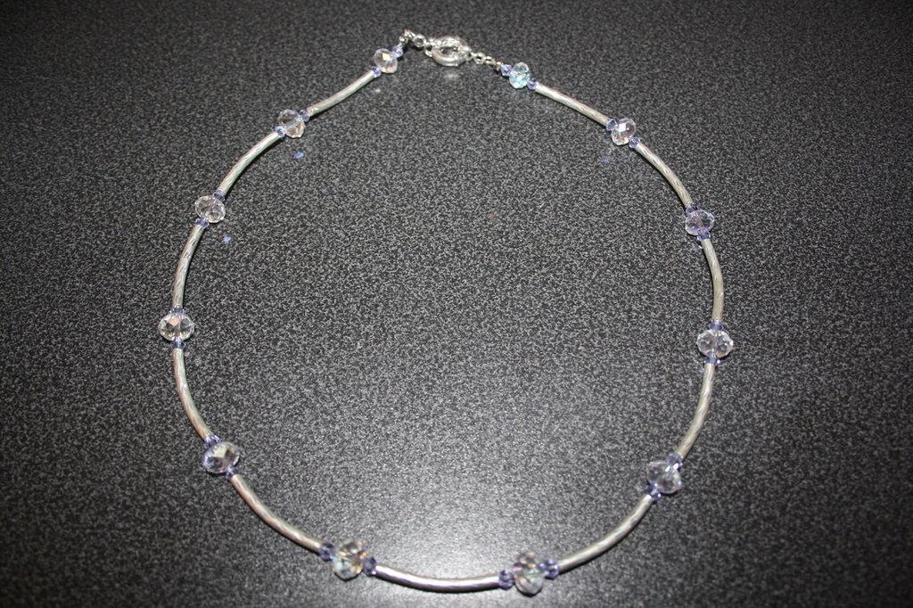 Collana cristalli fatta a mano
