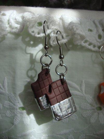 Cioccolato orecchini