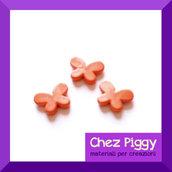 10 x perle a forma di farfalla - ARANCIONE