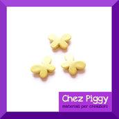10 x perle a forma di farfalla - GIALLO