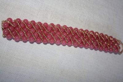 Braccialetto perle rosa