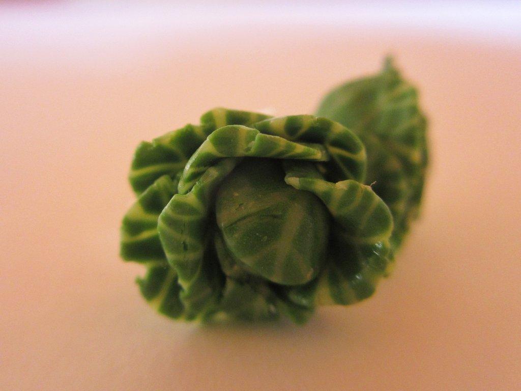 Miniature - Orecchini del cavolo in fimo cernit