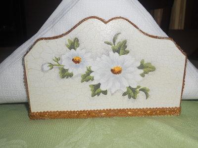 Portatovaglioli decorato a mano