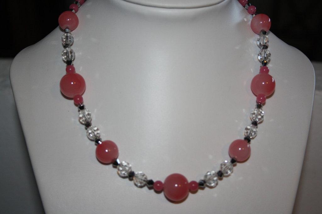 Collana perle rose