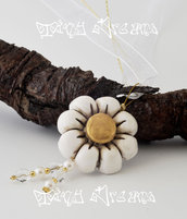 Collana/Necklace Flower Bianco- T02