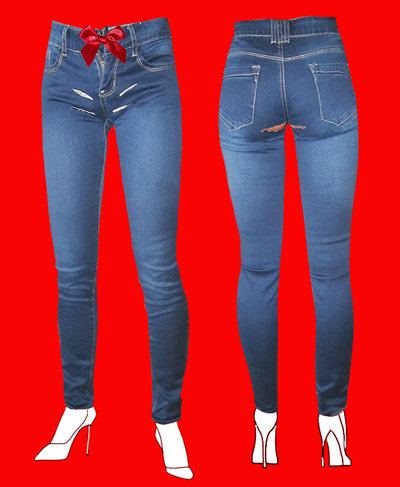 JEANS DONNA SEXY AND REBEL by PELITTA-RISK