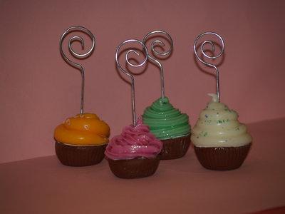 cupcake segnaposto portafoto pasta di mais