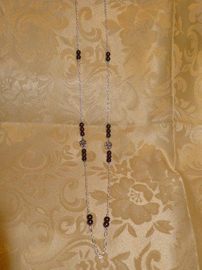 Collana lunga perle rame