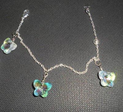 Bracciale con farfalle in vetro crystal