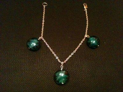 Bracciale con perle lampwork verde