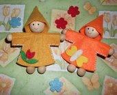 Folletti della primavera ^^ in feltro - handmade!!!