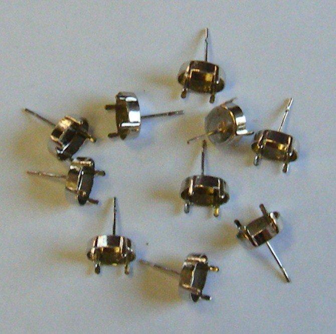 base per orecchini a perno colore argento