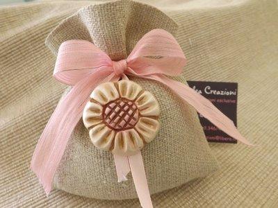 sacchetto margherita rosa