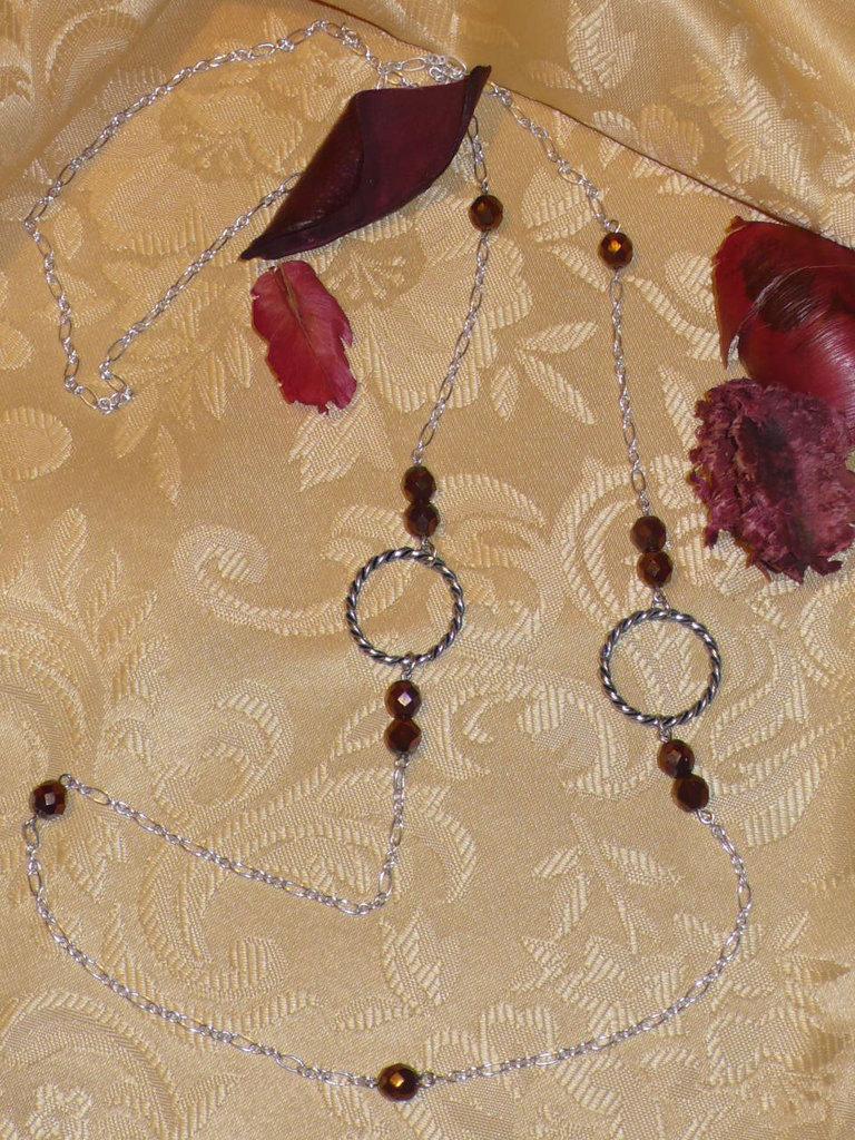 Collana lunga bronze
