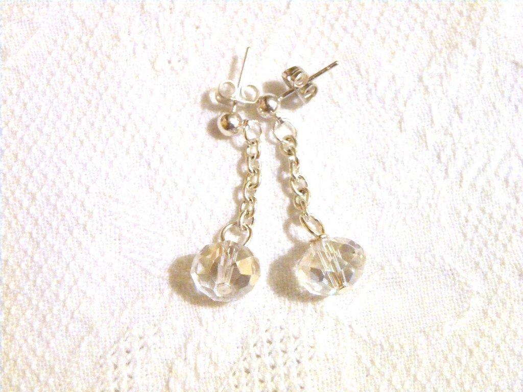 orecchini pendenti con perla cristallo