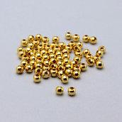 100 distanziali sfera oro