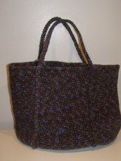 Shopping bag in lana