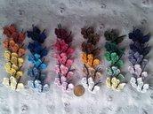 10 farfalline ad uncinetto in cotone