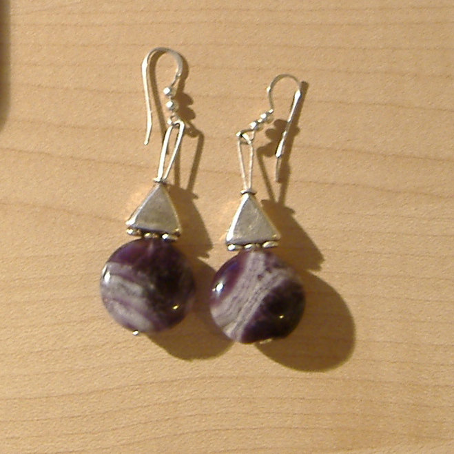 orecchini con pietre semi-preziose