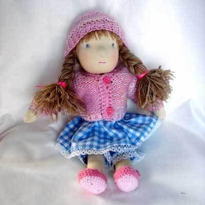 bambola Waldorf Rosa, 38 cm