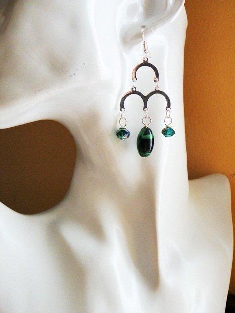 orecchini verdi -con archi