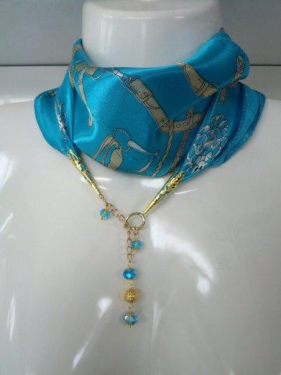 foulard gioiello con filigrana e cristalli