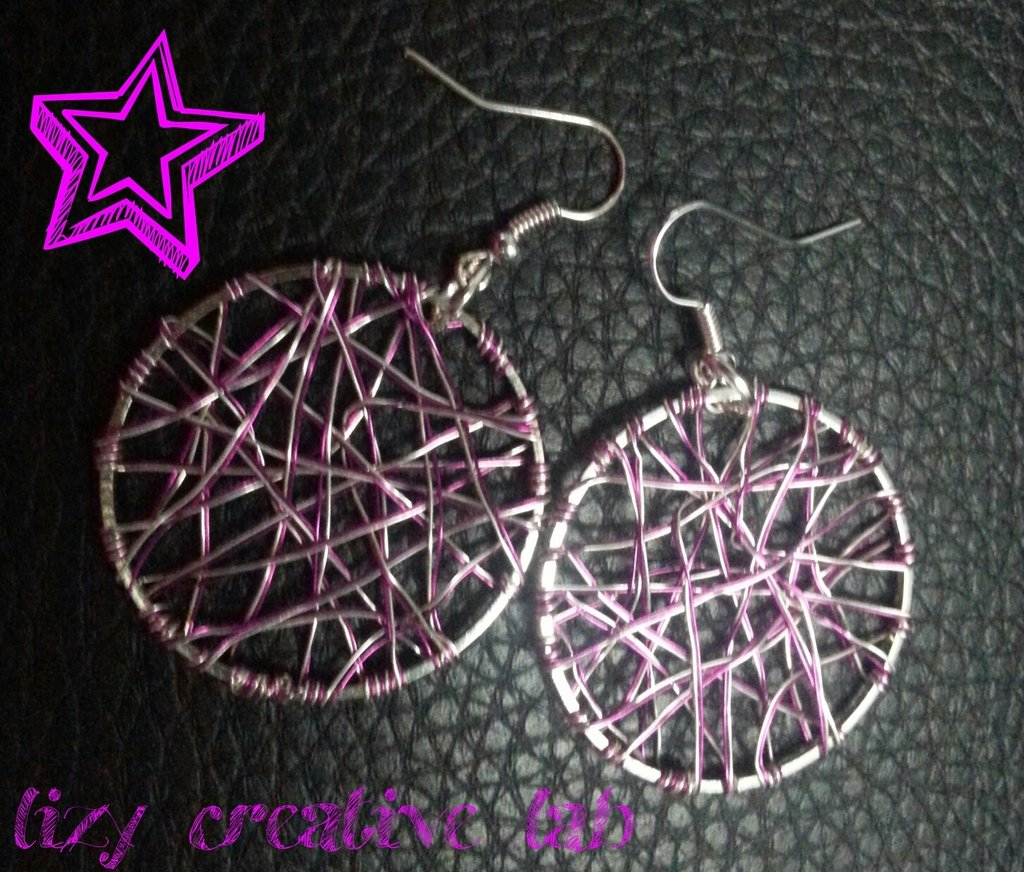 Earrings circle pink