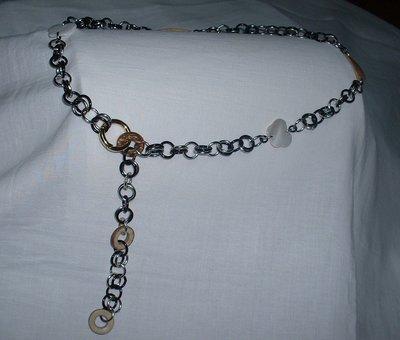 cinturino perle legno/madreperla