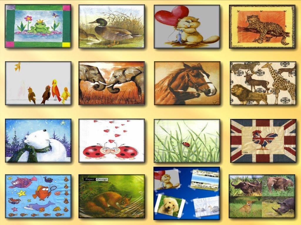 20 tovaglioli carta decoupage a scelta tema animali for Carta decoupage