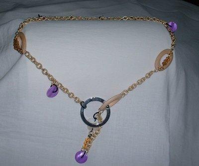 cinturino dorato perle legno/madreperla