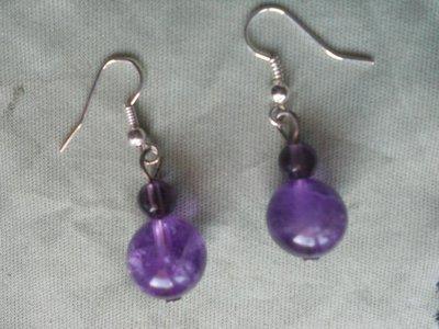 orecchini fluorite viola