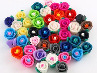 50 fiori in fimo
