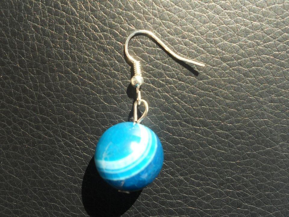 orecchini in agata blu