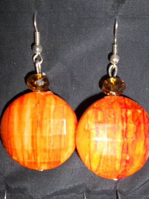 orecchini rotondi arancioni