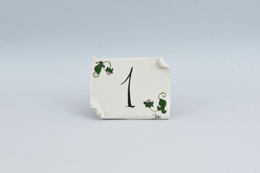 targhetta fuori porta fatta a mano ceramica