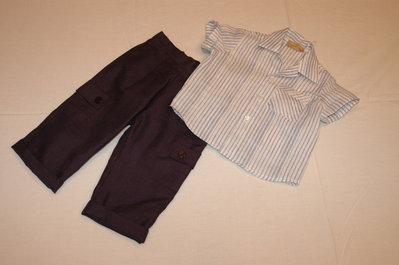 mod,291-95 tg.m 9/12 pantalone e camicia in lino