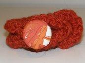 Bracciale in lana con bottone decoro