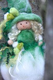Fatina - ballerina in lana cardata - verde