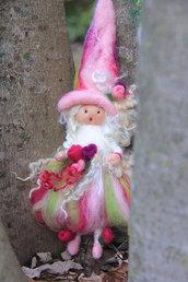 Fatina - ballerina in lana cardata - rosa