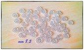 LOTTO STOCK 50 coppette copriperla filigrane a calotta argentanto 8,5 mm