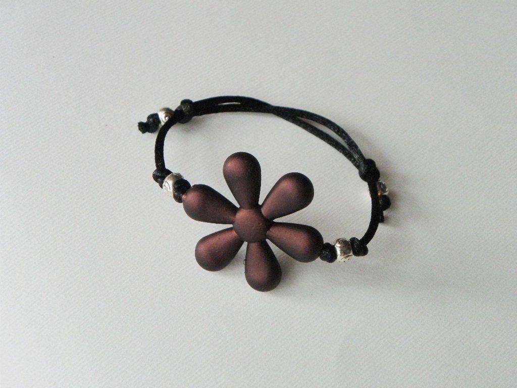 braccialetto fiore color cioccolato