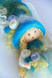 Fatina - ballerina in lana cardata - azzurra